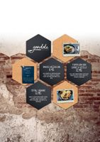 Securit cork- & chalkboards hexagon x7 + chalkmarker - Kork- und Kreidetafel