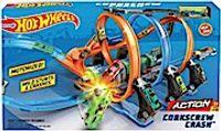 Hot Wheels Korkenzieher-Crash Trackset