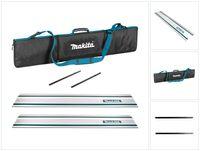 Makita Führungsschiene für Sägen 1000 mm 2 Stk. ( 2x 199140-0 ) + 2x Führungsschienen Verbinder + Führungsschienen Tasche Tragbar