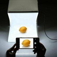 Melario Foto Lichtzelt Fotostudio Fotobox Fotozelt Faltbare mit LED 2 Hintergründe