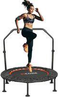 RELEFREE Trampolin Indoor Fitness Jumping mit Haltegriff klappbar Ø101 cm bis 150 kg