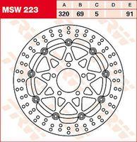 'TRW Scheibenbremsen vorne Bremsscheiben MSW223 3322937320172'