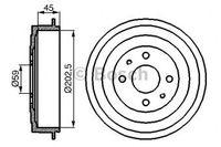 Bosch Bremstrommel  0 986 477 109