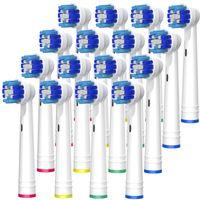 BELADENT Ersatzbürsten für Oral-B Zahnbürsten Aufsteckbürsten Aufsätze, 16 Stück
