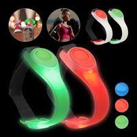 relaxdays 4 x LED Armband Leuchtarmband Laufen blinkend Jogginglicht bunt Sicherheitslicht