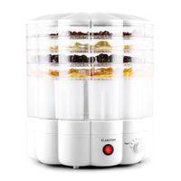 Klarstein Yofruit Dörrautomat 5 Etagen mit Joghurtbereiter , thermostat-gesteuerte  Hitzeregulierung mit 250 Watt Leistung ,  weiß