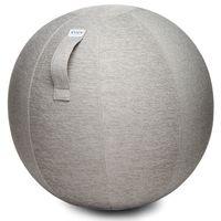 VLUV Sitzball Gymnastikball mit Bezug Stov concrete Ø 70 - 75cm inklusive Pumpe