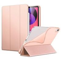 Smart Cover für iPad Air 4 2020 10,9 Zoll Tablet Schutzhülle Schale-Soft Cover-Etui Silikon Case Hülle Klapp Tasche Falt-Ultradünn RoseGold