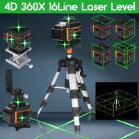 16 Line Laser Level Wasserwaage 4D 360° Kreuzlinienlaser Linienlaser Tool