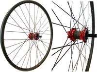 POP-Products MTB Carbon Laufrad Hinterrad CC Disc 26' (32 Loch) // CX Ray, rot, Ausführung:schwarz/rot