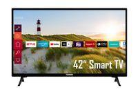 Telefunken XF42K550 42 Zoll Fernseher / Smart TV (Full HD, HDR, Triple-Tuner) - 6 Monate HD+ inklusive