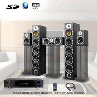 Ensemble Home Cinema Stereo-Verstärker 360W + 1240W V9B-BK + ATM8000BT + KABEL