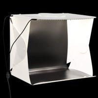 LED-Lichtbox Kameras,Optik,Fotografie,Beleuchtung,Studiobedarf,Studio-Hintergründe für Fotostudio Klappbar 40×34×37 cm Plastik Weiß