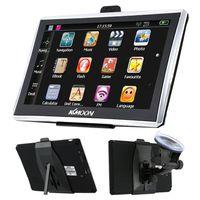 Navigationsgeräte KKmoon 7 Zoll HD Touchscreen GPS-Navigator 128MB RAM 4GB ROM FM MP3 Video spielen Auto Unterhaltung System mit Rückenstütze + Europakarte