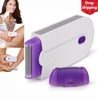 2 in 1 Elektro-Epilierer Haarentfernung Schmerzloser Haarentferner Rasierer Sofort Schmerzfrei  Sensorlicht USB-Aufladung