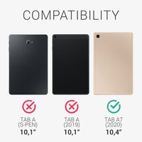 kwmobile 2x Schutzfolie kompatibel mit Samsung Galaxy Tab A7 10.4 (2020) - Folie entspiegelt Full Screen Tablet