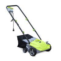 VOLTR - Elektrischer Rasen-Vertikutierer 1500W - 2-in-1-Rasenbelüfter- und Mäher, 2 Walzen: Messer und Kralle, 30-Liter-Sammler, Graspflege