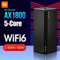 Xiaomi Mi AX1800 Router Qualcomm Fuenfkern Wifi6 2,4 G / 5 GHz Full Gigabit OFDMA High Gain 2 Antennen APP Fernbedienung IPv6 WiFi Repeater 220V