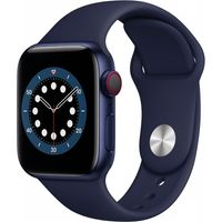 Apple Watch Series 6 GPS + Cell 44mm Blue Alu Navy Sport Band