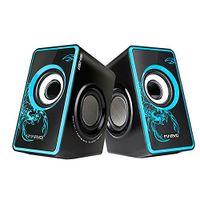 Marvo Stereo Box Studio Lautsprecher System Speakers USB 3.5mm schwarz/blau