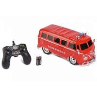 Carson 1:14 VW T1 Samba Bus Feuerwehr RC Fahrzeug ferngesteuert Flash-lights