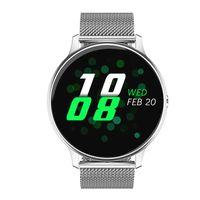Smart Watch IP67 Wasserdichter EKG + PPG-Herzfrequenzmesser für IPhone Android,Farbe:Silberstahl
