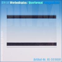 DIN A4 Werbedisplay / quer (magnetisch)