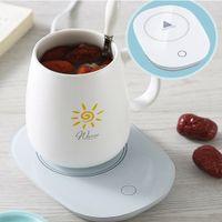 USB Tassenwärmer, Getränkewärmer mit Elektrischer Heizplatte, Elektrische Tassenwärmer Set, Kaffeewärmer, Teewärmer, Heizung Coaster Tray