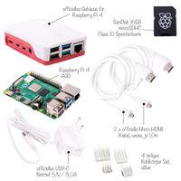 Raspberry Pi 4 Computer Modell B, 4GB RAM Full Starter Kit weiß