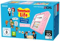 Nintendo 2DS Grundgerät-pink+Tomodachi Life