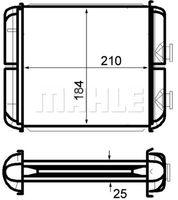 MAHLE ORIGINAL Wärmetauscher Innenraumheizung für OPEL ASTRA H Caravan L35