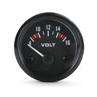 Zusatz Instrument Voltmeter Volt Anzeige 52mm Analog Schwarz Youngtimer Retro