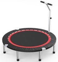 Fitness Trampolin Trampolin Indoor höhenverstellbarer Haltegriff fürJumping Fitness & Indoor geeignet 40zoll