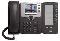 Cisco SPA500DS Telefon-Erweiterungsmodul - Grau - 14 cm (5,5 Zoll) LCD