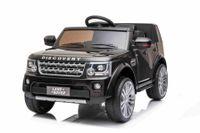 Elektrische Fahrt mit dem Auto Land Rover Discovery, schwarz, original lizenziert, batteriebetrieben, LED-Leuchten, Türen und Motorhaube öffnen, 2 x 35 W Motor, 12 V Batterie, 2,4 GHz Fernbedienung, Hinterradaufhängung, sanfter Start, USB / AUX Ein