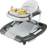 ib style® 2 in 1  LITTLE WORLD Babywalker Gehfrei mit Schaukelfunktion Babywalker Lauflernwagen Laufhilfe Babywippe  GRAU