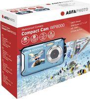 AgfaPhoto WP8000 wasserdichte 24-Megapixel Digitalkamera mit 16-fach Digitalzoom, full-HD-Videofunktion und Bildschirmen auf Front-& Rückseite