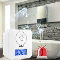 Gasmelder CO Melder Kohlenmonoxidmelder, Gaswarner mit LCD-Display mit Licht- und Tonerinnerung