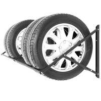 Reifenregal Felgenbaum Reifenhalter Reifenwandhalter Felgenregal für 8 Räder