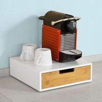 SoBuy®  Kaffeekapsel Box,Kapselständer Monitorständer ,mit Schublade,FRG179-WN