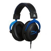 HyperX Cloud Gaming Headset PS4 Blau Binaural Over-Ear Kopfhörer Mikrofon Headphones, Farbe:Schwarz/Blau