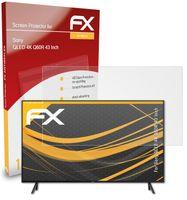 atFoliX FX-Antireflex Schutzfolie kompatibel mit Sony QLED 4K Q60R (43 Inch) Panzerfolie
