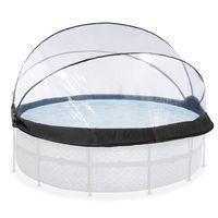 EXIT Pool Abdeckung ø427cm, Pool-/Whirlpool-Kuppel, Transparent, PVC, Rund, Galvanisiert, 6 Jahr(e)
