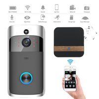 MECO Wireless WiFi Video Türklingel Sprechglockenspiel Sicherheit Smart HD Camera Türsprechanlage Farbe: Schwarz