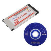 ExpressCard zu USB 3.0 Adapterkarte Full-Speed ??75x 34x 5 Mm Ports 2 Express