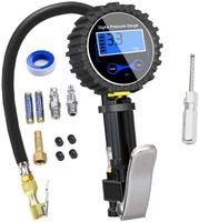 Digitales Reifenmessgerät 250 PSI, hochgenaues digitales Reifendruckmessgerät mit Aufblaspistole für Auto-Motorräder, 2 AAA-Batterien, LCD-Display
