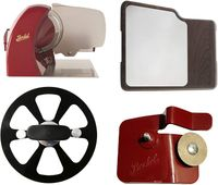 Berkel - Home Line 250 Red + Blade Extractor + Accessory Sharpener for Home Line + Cutting Board with Inox Plate