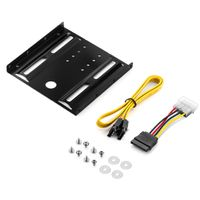 """deleyCON Einbaurahmen für 2,5"""" Festplatten/SSD's auf 3,5"""" Adapter Wechselrahmen Mounting Frame Halterung Schienen inkl. Schrauben"""