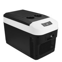 Auto Kühlschrank 12V 220V Elektrisch 20L Kompressor Kühlbox Für Camping GE black EU plug