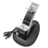 vhbw Dual-Ladestation kompatibel mit Nintendo Switch Pro Controller - Netzteil Halterung Ladegerät, Schwarz